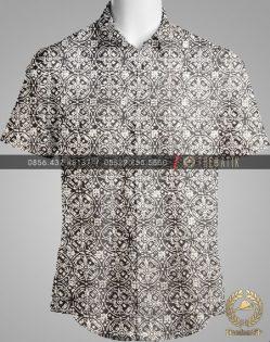Model Baju Kemeja Seragam Batik Kantor / Keluarga Motif Klasik-5