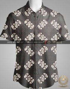 Model Baju Kemeja Seragam Batik Kantor / Keluarga Motif Klasik-1