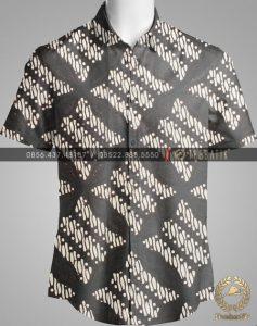 Model Baju Kemeja Seragam Batik Kantor / Keluarga Motif Klasik-2