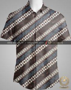 Model Baju Kemeja Seragam Batik Kantor / Sarimbit Keluarga Klasik-4