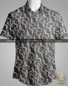 Model Baju Kemeja Seragam Batik Kantor / Sarimbit Keluarga Klasik-5