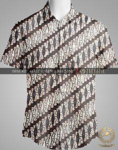 Model Baju Kemeja Seragam Batik Kantor / Sarimbit Keluarga Klasik-6