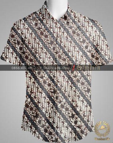 Model Baju Kemeja Seragam Batik Kantor / Sarimbit Keluarga Klasik-7
