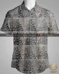 Model Baju Kemeja Seragam Batik Kantor / Sarimbit Keluarga Klasik-8