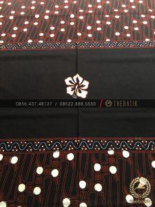 Kain Batik Pola Kemeja Parang Klasik Hawaii Hitam