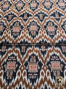 Kain Batik Katun Meteran Model Etnik Coklat