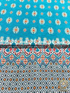 Kain Batik Halus per Meter Model Etnik Biru Muda