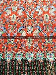 Kain Batik per Roll Meteran Motif Papua Orange