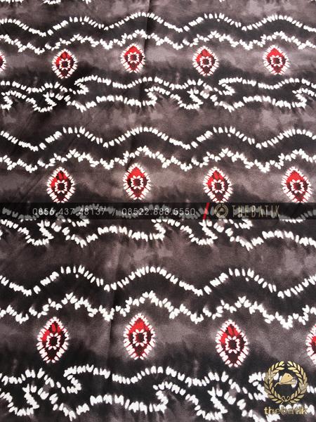 Kain Batik Semi Sutra Halus Premium Sasirangan Hitam