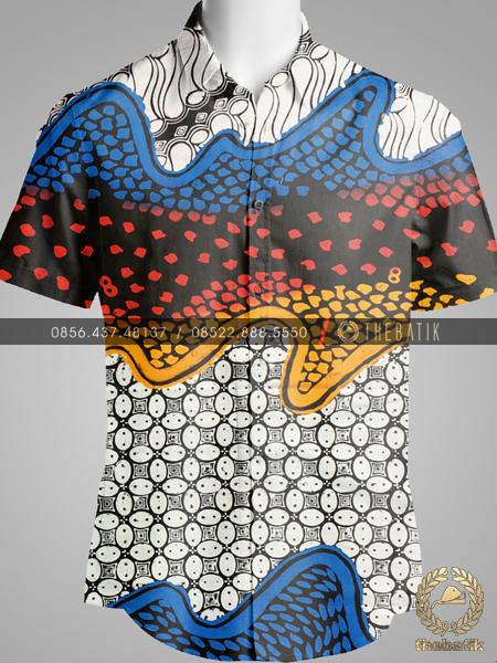 Kain Batik Gradasi Modern Parang Kawung