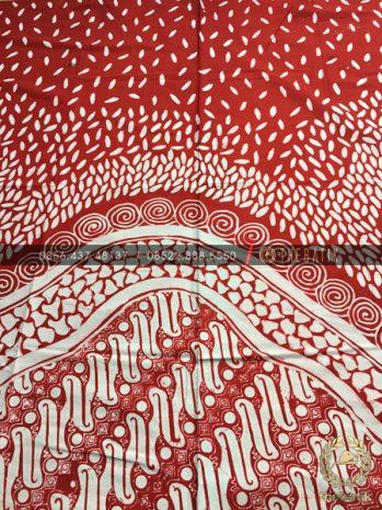 Kain Batik Modern Kontemporer Merah Putih