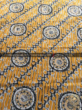 Kain Batik Cap Bahan Baju Motif Parang Bintang Kuning