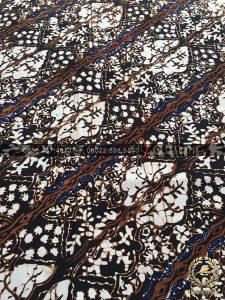 Kain Batik Sogan Lawasan Motif Lereng Daun