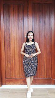 Daster Batik Gemes Tali Tanpa Lengan