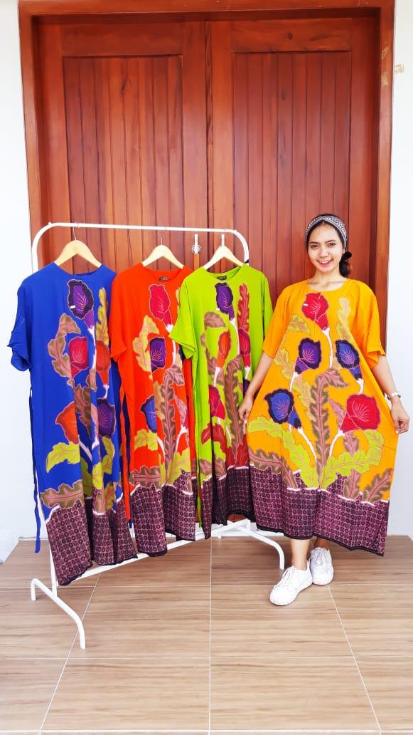 Daster Batik Jumbo Cap Lengan Pendek