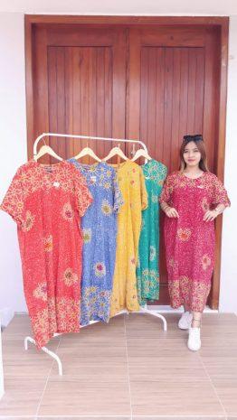Daster Batik Jumbo Santung Kancing Depan