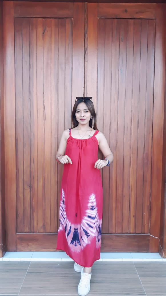 Daster Batik Jumputan Jumbo Tanpa Lengan