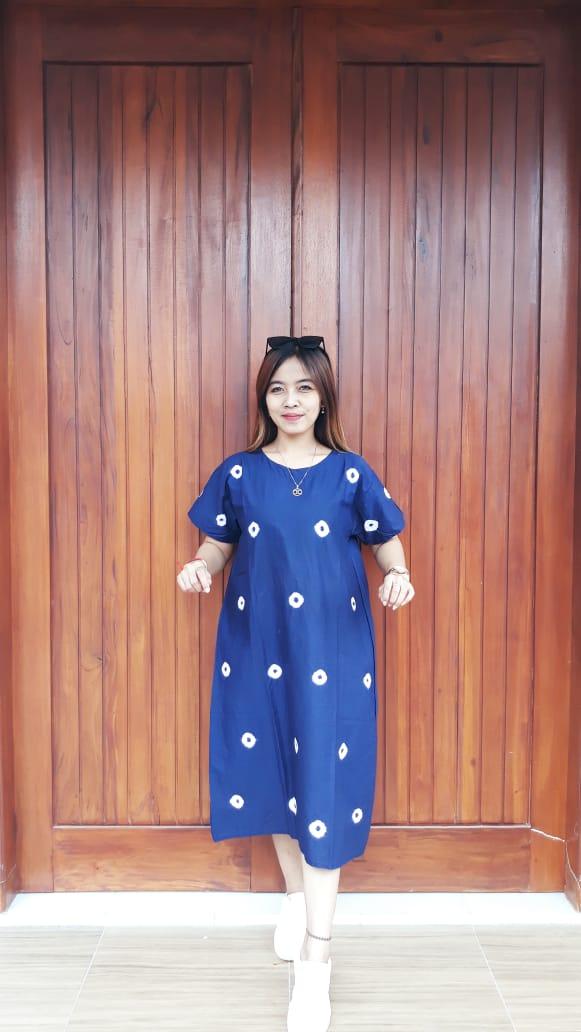 Daster Batik Jumputan Katun Lengan Pendek