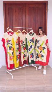 Daster Batik Lowo Warna Lengan Pendek