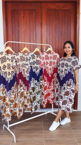 Daster Batik Murah Pekalongan Printing Santung