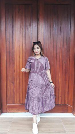Daster Batik Rempel Susun Lengan Pendek