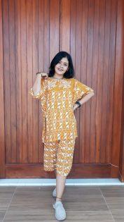 Daster Batik Setelan Kulot Celana Pendek
