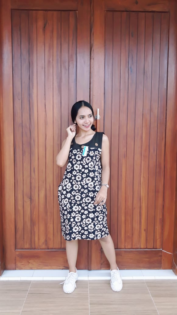 Daster Batik Yukensi Tanpa Lengan Santung