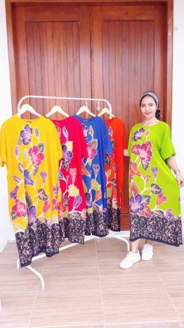 Daster Jumbo Batik Lengan Pendek Cantik