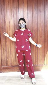 Daster Setelan Batik Jumputan Celana Panjang