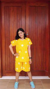 Setelan Batik Jumputan Kulot Celana Pendek