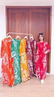 Long Dress Batik Isabela Lengan Panjang