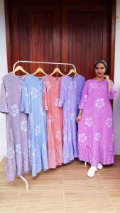 Long Dress Batik Laela Lengan 3/4