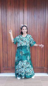 Long Dress Batik Selvie Lengan Pendek