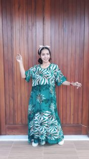 Long Dress Batik Selvie Lengan Pendek
