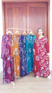 Long Dress Batik Syahrini Lengan Panjang