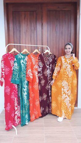 Long Dress Isabela Batik Lengan Panjang