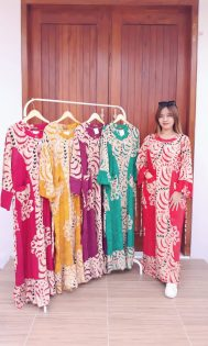 Long Dress Nagita Jumbo Lengan Panjang