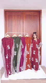 Longdress Batik Lowo Cendana Lengan Pendek