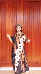 Longdress Batik Modern Abstrak Lowo Cendana