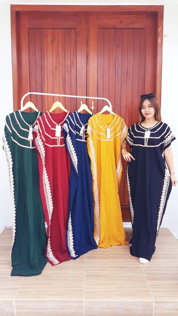 Model Baju Daster Kaftan Renda Pendek