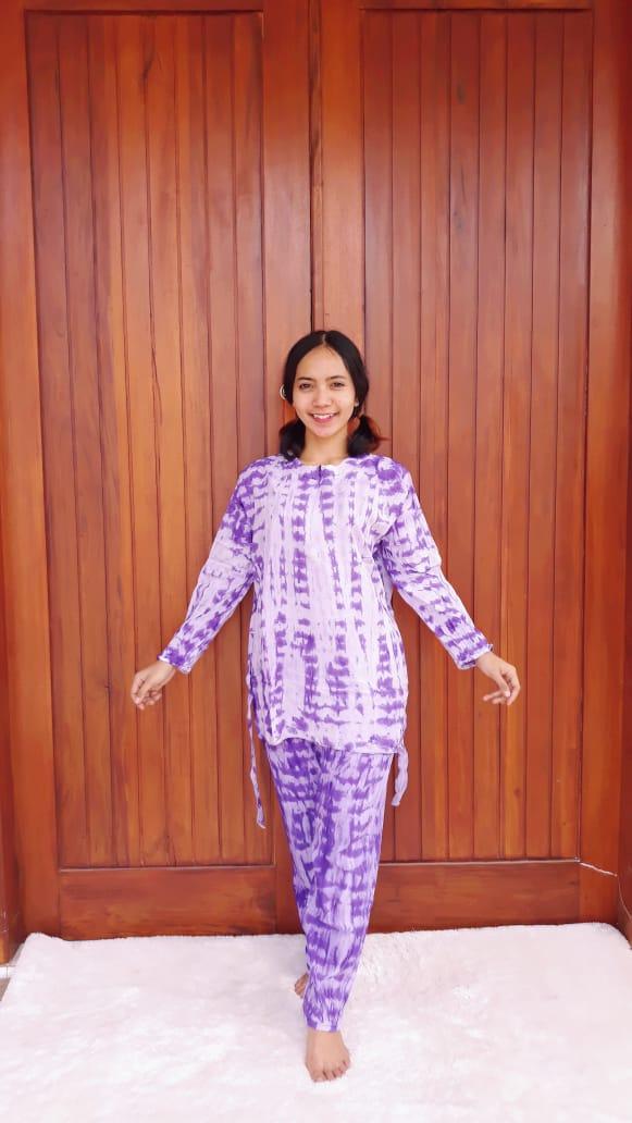 Setelan Celana Panjang Batik Jumputan Modern