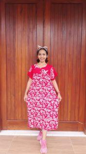 Baju Batik Daster Ibu Lengan Pendek