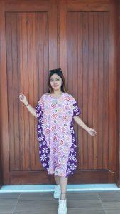 Baju Daster Batik Cendana Kelelawar Lengan Pendek