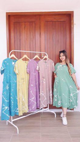 Baju Daster Batik Kinta Pastel Cantik