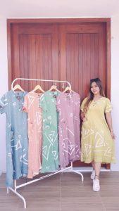 Baju Daster Batik Lengan Pendek Cantik