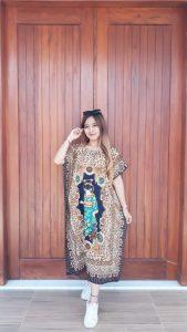 Baju Daster Batik Oblong Lengan Pendek