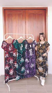 Baju Daster Batik Pendek Karet Depan