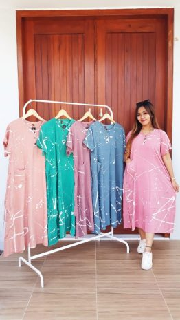 Baju Daster Batik Warna Pastel Kinta