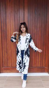 Baju Outer Batik Panjang Tie Dye