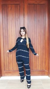 Baju Setelan Batik Celana Panjang Ikat Celup
